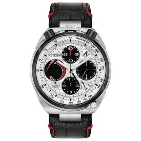 シチズン レディース 腕時計 アクセサリー Eco-Drive Men's Chronograph Promaster Tsuno Racer Black Leather Strap Watch 45mm No Color