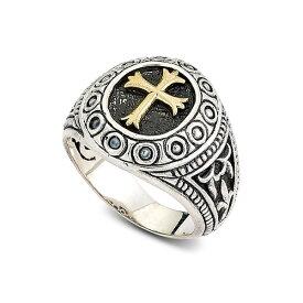 サミュエルビージュエリー メンズ リング アクセサリー Two-Tone Sterling Silver Cross Filigree Ring SILVER AND GOLD