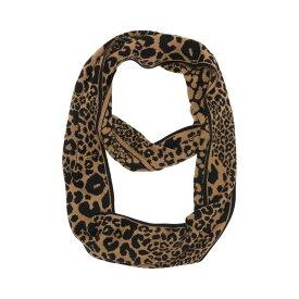 マイケルコース レディース マフラー・ストール・スカーフ アクセサリー Variegated Leopard Print Infinity Scarf DARK CAMEL