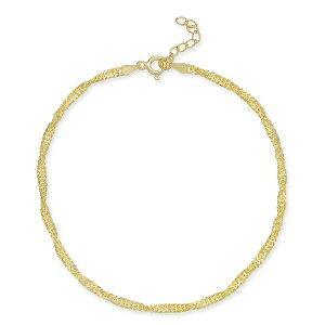 ジャニ ベルニーニ レディース ブレスレット・バングル・アンクレット アクセサリー Singapore Chain Ankle Bracelet in 18k Gold-Plated Sterling Silver, Created for Macy's Gold