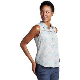 トードアンドコー レディース カットソー トップス Toad & Co Women's Airbrush SL Deco Shirt Cocoa Stripe