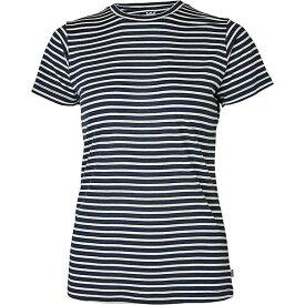 ヘリーハンセン レディース カットソー トップス Helly Hansen Women's HH Merino Graphic T-Shirt NAVY STRIPE