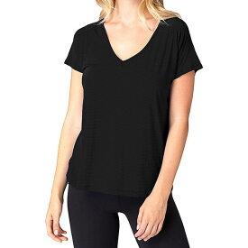 ビヨンドヨガ レディース カットソー トップス Beyond Yoga Women's Sleek Stripe Triangle Cut Top Black