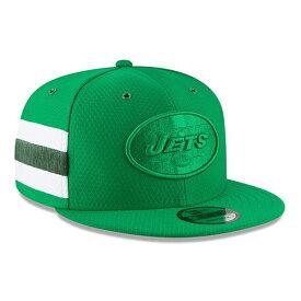 ニューエラ メンズ 帽子 アクセサリー New York Jets New Era 2018 NFL Sideline Color Rush Official 9FIFTY Snapback Adjustable Hat Kelly Green