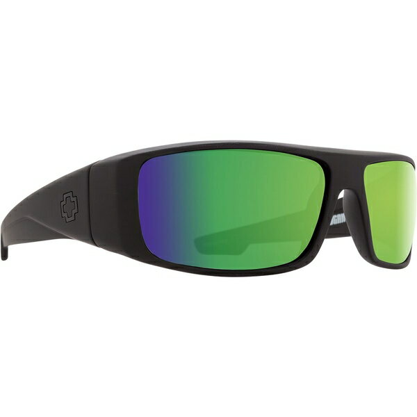 スパイ メンズ サングラス・アイウェア アクセサリー Logan Polarized Sunglasses Matte Black - Happy Bronze Polar W/ Green Spectra