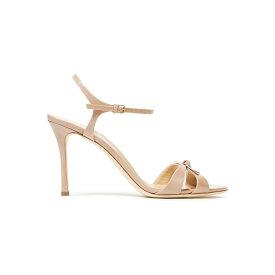 セルジオロッシ レディース ヒール シューズ Bow-embelished patent-leather sandals Neutral