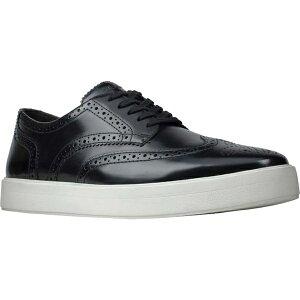 クラークス メンズ ドレスシューズ シューズ Men's Clarks Hero Limit Wingtip Sneaker Black Leather