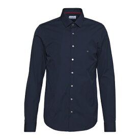 カルバン クライン テイラード メンズ シャツ トップス CONTRAST FLOWER PRINT SLIM - Formal shirt - blue
