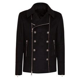バルマン メンズ ジャケット&ブルゾン アウター BalmainDouble-breasted Coat In A Wool And Cashmere Blend -