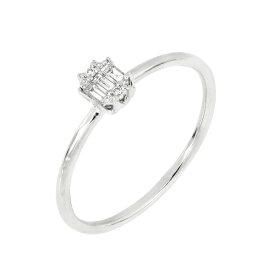 ボニー レヴィ レディース リング アクセサリー 18k White Gold Gatsby Stack Ring - 0.09 ctw 18KW