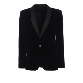 バルマン メンズ ジャケット&ブルゾン アウター Balmain Elegant And Refined Velvet Smoking Jacket -