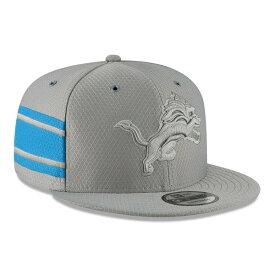 ニューエラ メンズ 帽子 アクセサリー Detroit Lions New Era 2018 NFL Sideline Color Rush Official 9FIFTY Snapback Adjustable Hat Gray