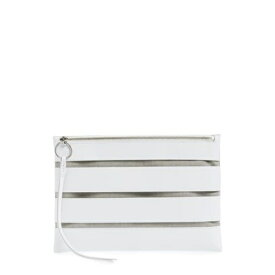 レベッカミンコフ レディース クラッチバッグ バッグ Cage Leather Clutch OPTIC WHIT
