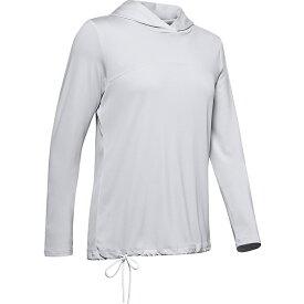 アンダーアーマー レディース パーカー・スウェットシャツ アウター Under Armour Women's ISO-Chill Fusion Hoodie Halo Grey / White