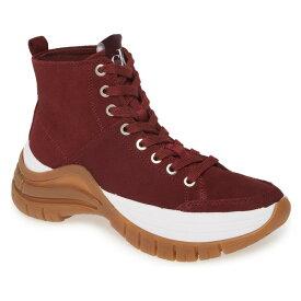 カルバンクライン レディース スニーカー シューズ Calvin Klein Timotha High Top Sneaker (Women) Beet Red Suede