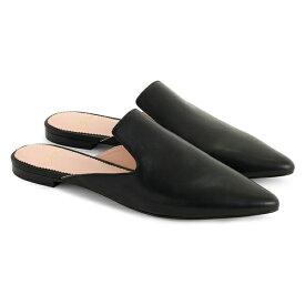 ジェイクルー レディース サンダル シューズ J.Crew Pointed Toe Mule (Women) Black Leather