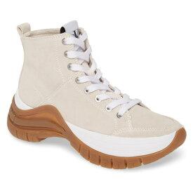 カルバンクライン レディース スニーカー シューズ Calvin Klein Timotha High Top Sneaker (Women) Stone Suede