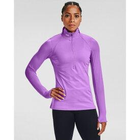 アンダーアーマー レディース シャツ トップス Under Armour Women's ColdGear Armour 1/2 Zip Shirt Purple Light 03