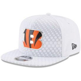 ニューエラ メンズ 帽子 アクセサリー Cincinnati Bengals New Era 2017 Color Rush 9FIFTY Snapback Adjustable Hat White
