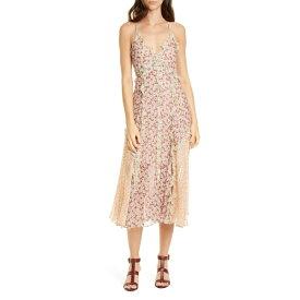 レベッカテイラー レディース ワンピース トップス Rebecca Taylor Lucia Metallic Detail Silk Blend Dress Multi Combo