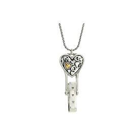 ブライトン レディース ネックレス・チョーカー・ペンダントトップ アクセサリー Floating Heart Badge Clip Necklace Silver/Gold