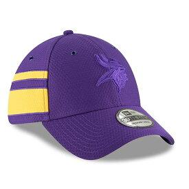 ニューエラ メンズ 帽子 アクセサリー Minnesota Vikings New Era 2018 NFL Sideline Color Rush Official 39THIRTY Flex Hat Purple