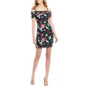 ゲス レディース ワンピース トップス Cold Shoulder Embroidered Floral Print Sheath Dress Multi
