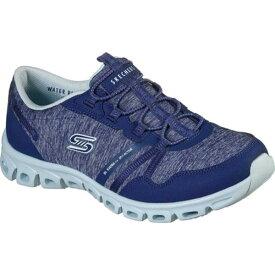 スケッチャーズ レディース スニーカー シューズ Glide Step Stepping Up Sneaker Navy/Light Blue
