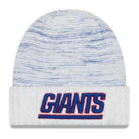 ニューエラ メンズ 帽子 アクセサリー New York Giants New Era 2017 Color Rush Knit Hat White