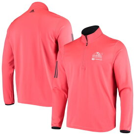 アディダス メンズ ジャケット&ブルゾン アウター Arnold Palmer Invitational adidas 3Stripe QuarterZip Pullover Jacket Red