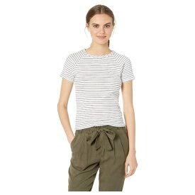 マイケルスターズ レディース シャツ トップス Avery Shine Stripe Short Sleeve Crew Cropped Tee White/Admiral