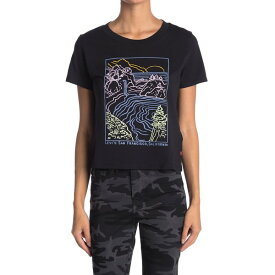 リーバイス レディース Tシャツ トップス Surf Crew Neck Graphic T-Shirt WATERFALL BLACK GR