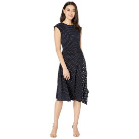 ラルフローレン レディース ワンピース トップス Petite Polka Dot Stretch Jersey Dress Lauren Navy/Pale Cream