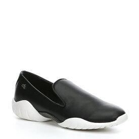 カルバンクライン レディース スニーカー シューズ Lee Leather Slip On Sneakers Black