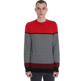 バルマン メンズ ニット&セーター アウター Balmain Knitwear In Red Wool red