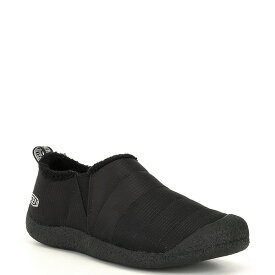 キーン レディース スニーカー シューズ Women's Howser Water Resistant Quilted Slip-Ons Triple Black