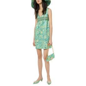 マイケル コース レディース ワンピース トップス Michael Kors Collection Silk-Blend Dress aqua