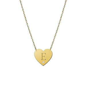 ジェインバシュデザインズ レディース ネックレス・チョーカー・ペンダントトップ アクセサリー Diamond & Initial Pendant Necklace Gold - E