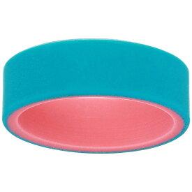 キューエーエルオー レディース リング アクセサリー Switch Silicone Ring Emerald/Coral