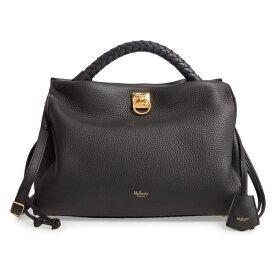 マルベリー レディース ハンドバッグ バッグ Mulberry Iris Leather Top Handle Bag Black