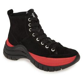 カルバンクライン レディース スニーカー シューズ Calvin Klein Timotha High Top Sneaker (Women) Black Suede