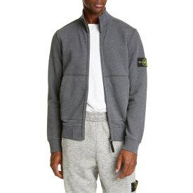 ストーンアイランド メンズ パーカー・スウェットシャツ アウター Stone Island Fleece Zip Jacket Grey