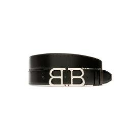 バリー メンズ ベルト アクセサリー Bally Britt Reversible Leather Belt Black