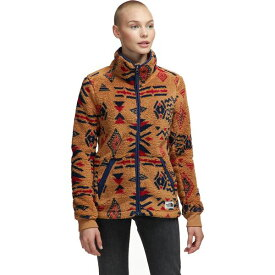 ノースフェイス レディース ジャケット&ブルゾン アウター Campshire Full-Zip Fleece Jacket - Women's Cedar Brown California Geo Print