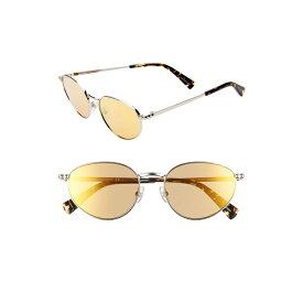 レベッカミンコフ レディース サングラス&アイウェア アクセサリー Rebecca Minkoff Stevie1 54mm Oval Sunglasses Palladium