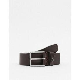 カルバンクライン メンズ ベルト アクセサリー Calvin Klein formal belt in brown Brown