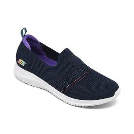 スケッチャーズ レディース スニーカー シューズ Women's Ultra Flex - Serene Aura Slip-On Walking Sneakers from Finish Line Navy Multi