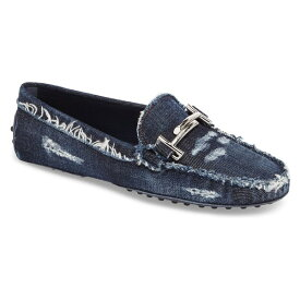 トッズ レディース サンダル シューズ Tod's Gommino Double T Loafer (Women) Denim Blue