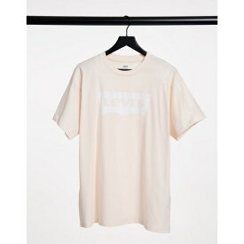 リーバイス レディース Tシャツ トップス Levi's batwing logo t-shirt in dusty pink Scallop shell