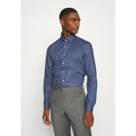 カルバン クライン テイラード メンズ シャツ トップス STRUCTURE EASY CARE SLIM SHIRT - Formal shirt - blue dvrq011b